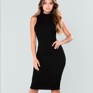 FASHION NOVA Black Bodycon Dress